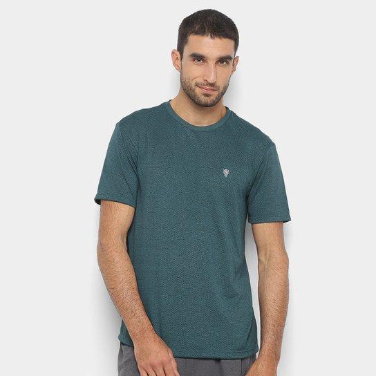 Camiseta Gonew Melange Workout Masculina - Verde escuro