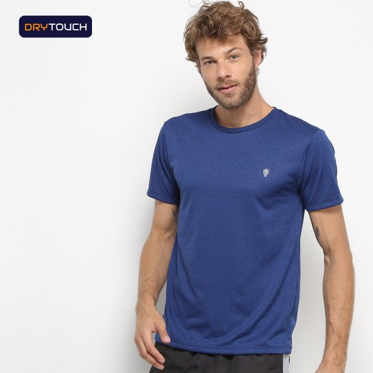 Camiseta Gonew Melange Workout Masculina - Marinho