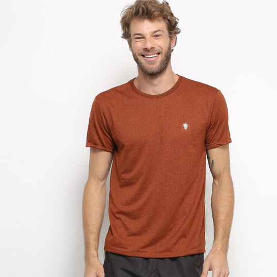 Camiseta Gonew Melange Workout Masculina - Laranja