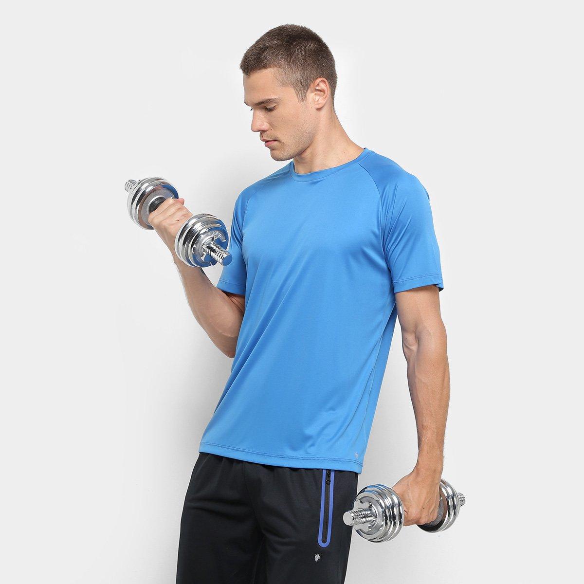 Oferta ➤ Camiseta Gonew Workout Masculina – Azul   . Veja essa promoção