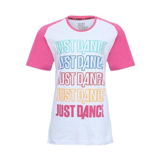 Camiseta Graphic Just Dance Ubisoft rosa Masculina - Branco+Rosa