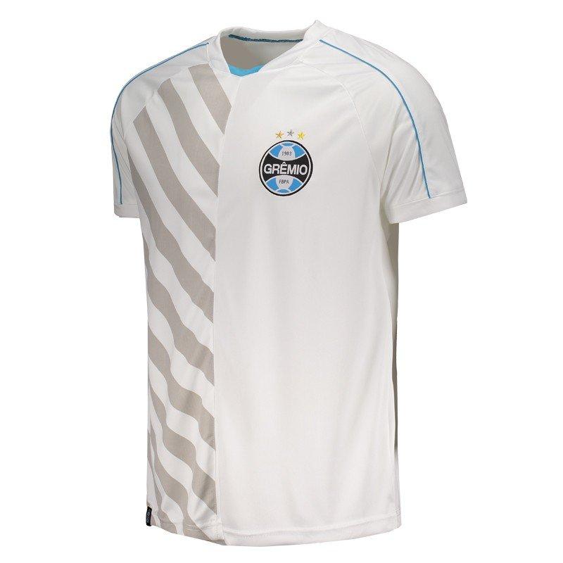 725ddf6613 Camiseta Grêmio Dry Fit Atleta Masculina - Branco - Compre Agora ...