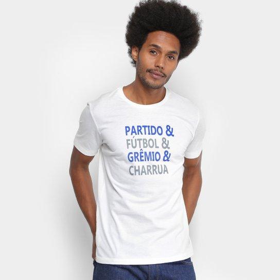 Camiseta Grêmio Lettering Umbro Masculina - Off White