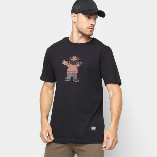 Camiseta Grizzly Freddy Masculina - Preto