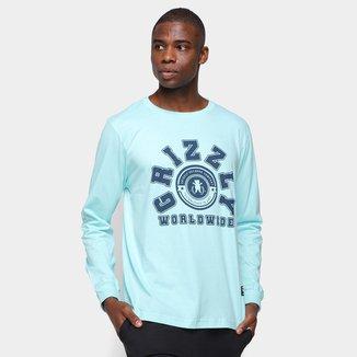 Camiseta Grizzly Homecoming Long Sleeve Manga Longa Masculina