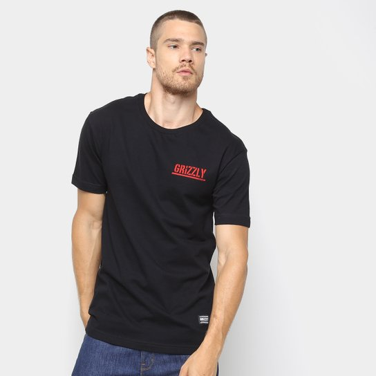 Camiseta Grizzly Squaid Masculina - Preto