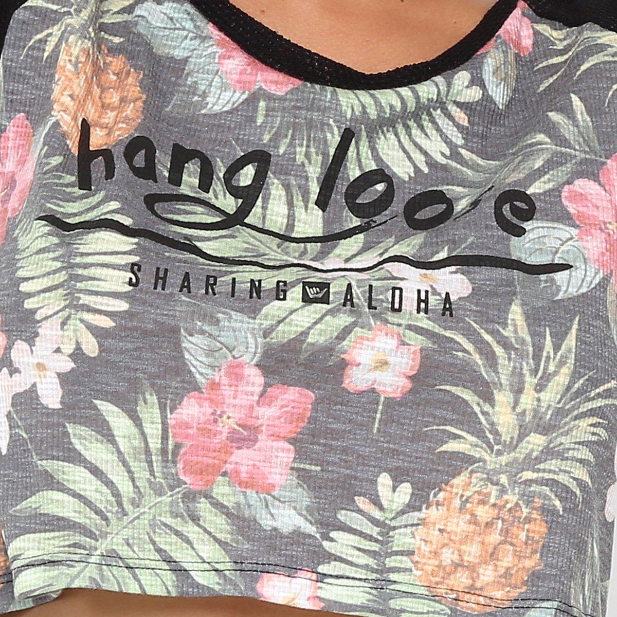 Cropped Feminina Camiseta Preto II Hang Camiseta Loose Hang qvBCp