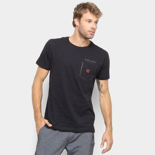 Camiseta Hang Loose Estampada Solda Masculina - Preto
