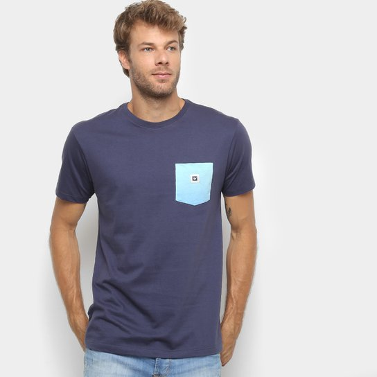 Camiseta Hang Loose Estampada Sunpocket Masculina - Marinho