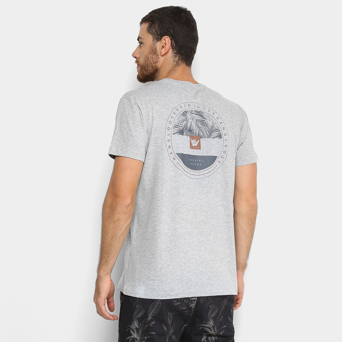 Camiseta Hang Loose Silk Hang Masculina - Cinza - Compre Agora ... f3a51a66638
