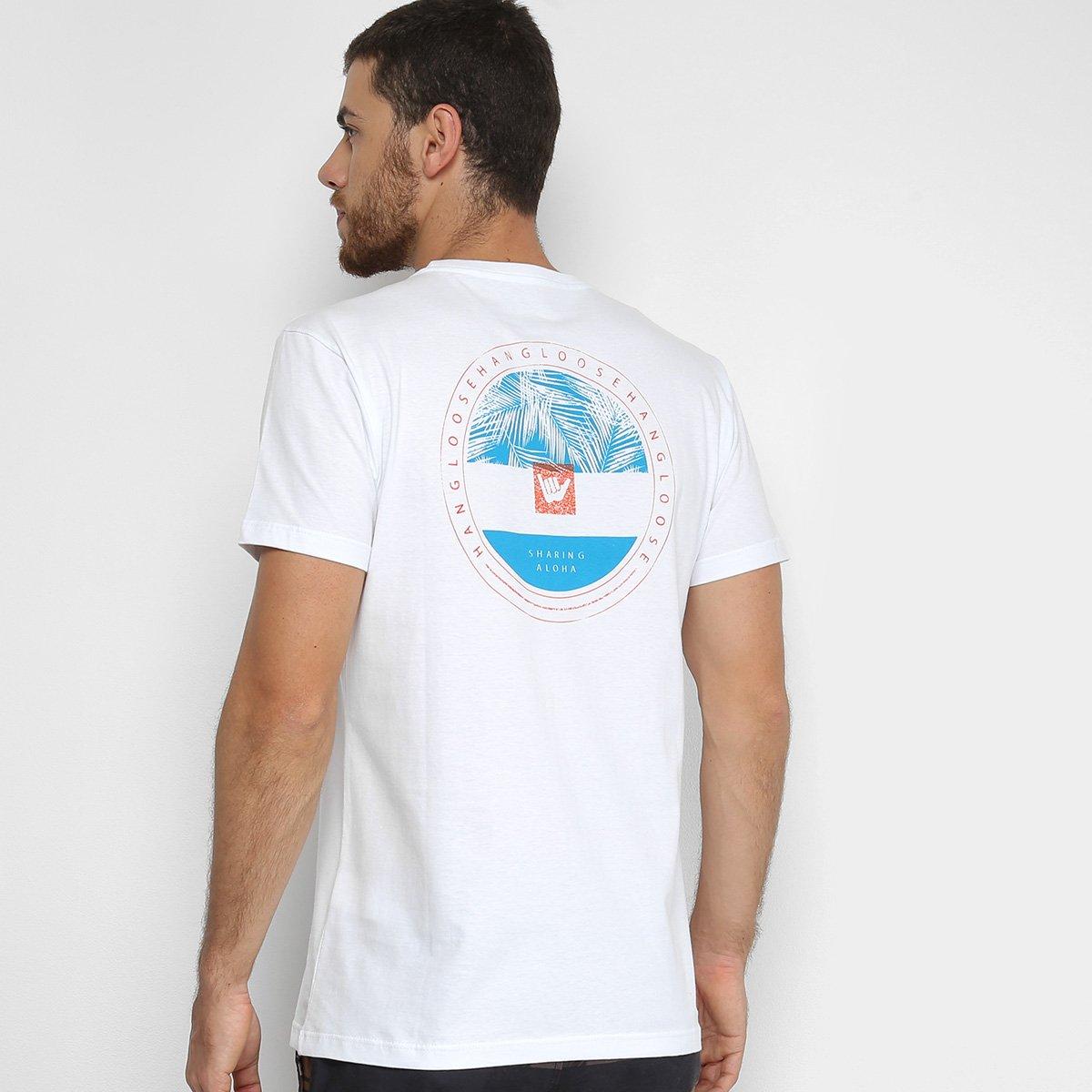 Camiseta Hang Loose Silk Hang Masculina - Branco - Compre Agora ... 8bbe6564e76