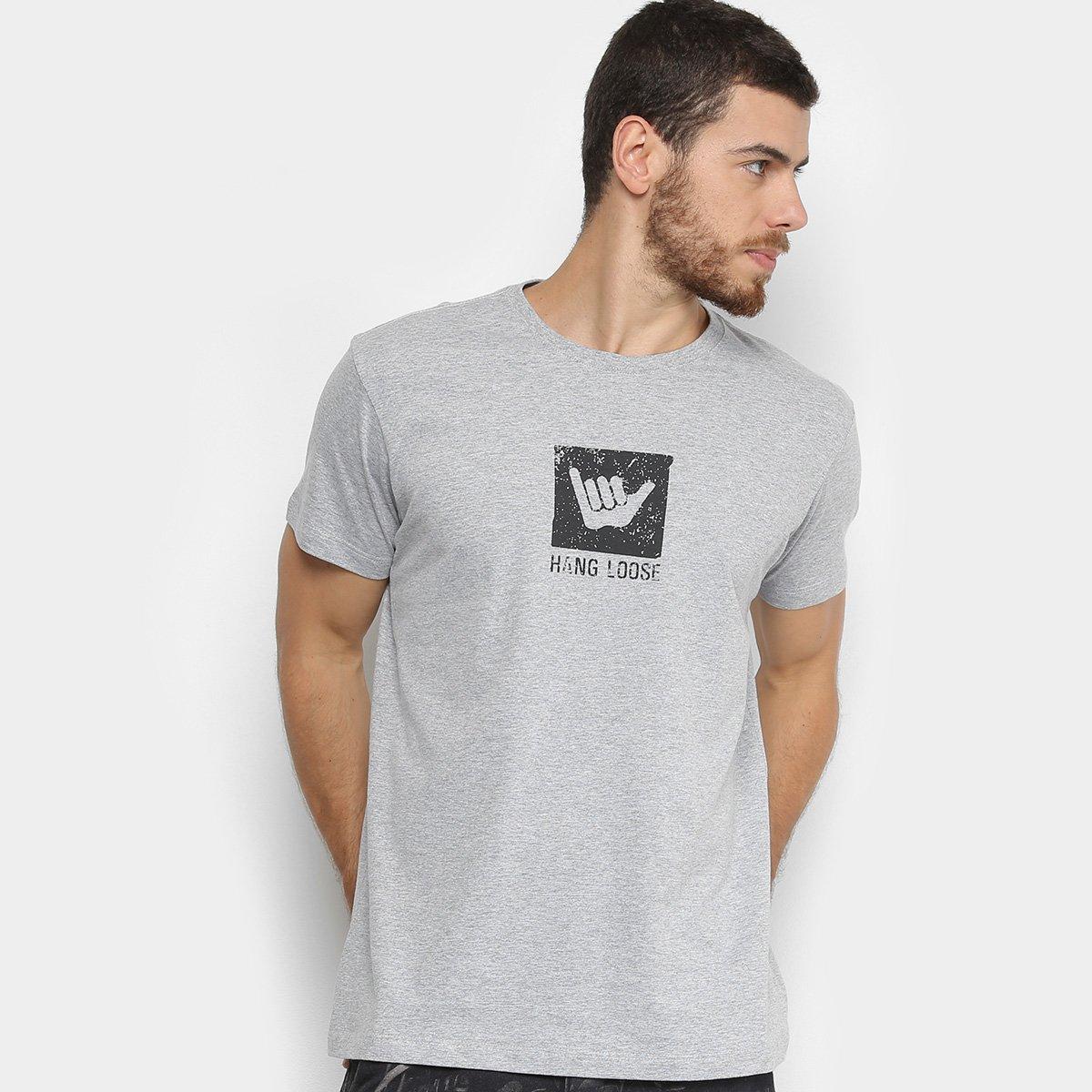 Camiseta Hang Loose Surf Masculina - Cinza - Compre Agora  bdd4e2f715e32