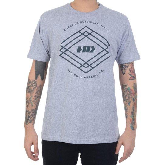 Camiseta HD Triangle Crew Masculino - Cinza