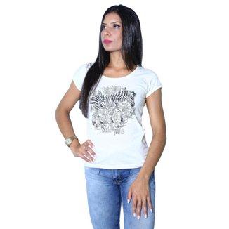 Camiseta Heide Ribeiro Estampada Zebra