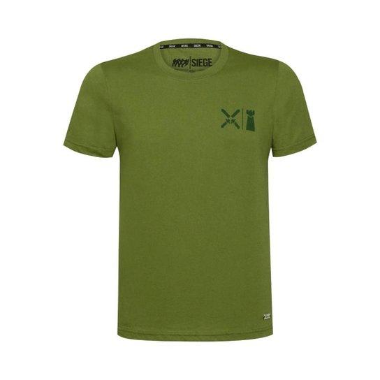Camiseta Hide Line Unissex R6 Siege Ubisoft  Militar - Verde