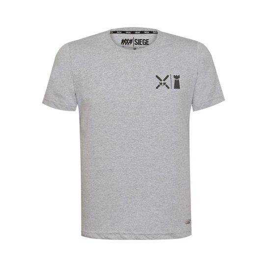 Camiseta Hide Line Unissex R6 Siege Ubisoft - Cinza