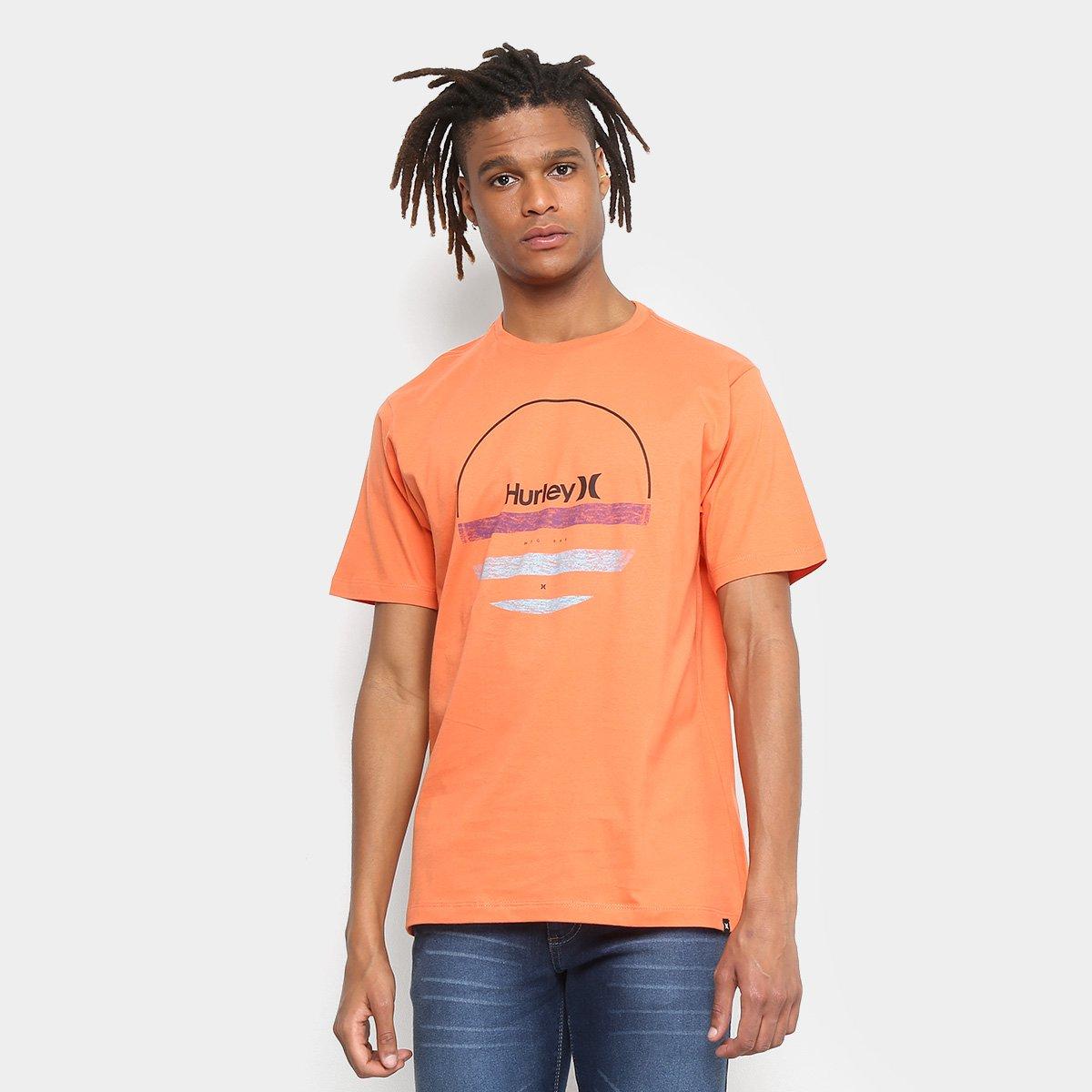 Camiseta Hurley Silk Banded Masculina - Laranja - Compre Agora ... ea39ec001bc