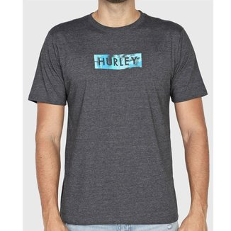 Camiseta Hurley Silk Box Smoke Mescla