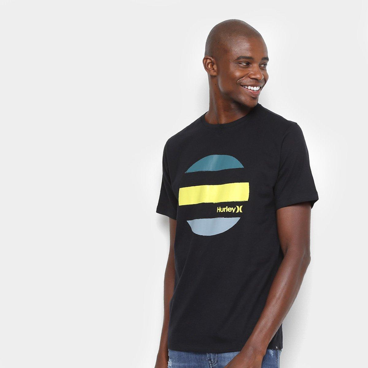 b976596fd3 Camiseta Hurley Silk Drive Through Masculina - Preto - Compre Agora ...