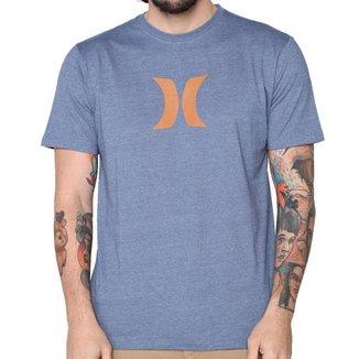 Camiseta Hurley Silk Icon Mescla Azul