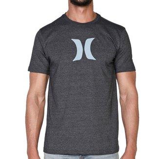 Camiseta Hurley Silk Icone Cinza Mescla