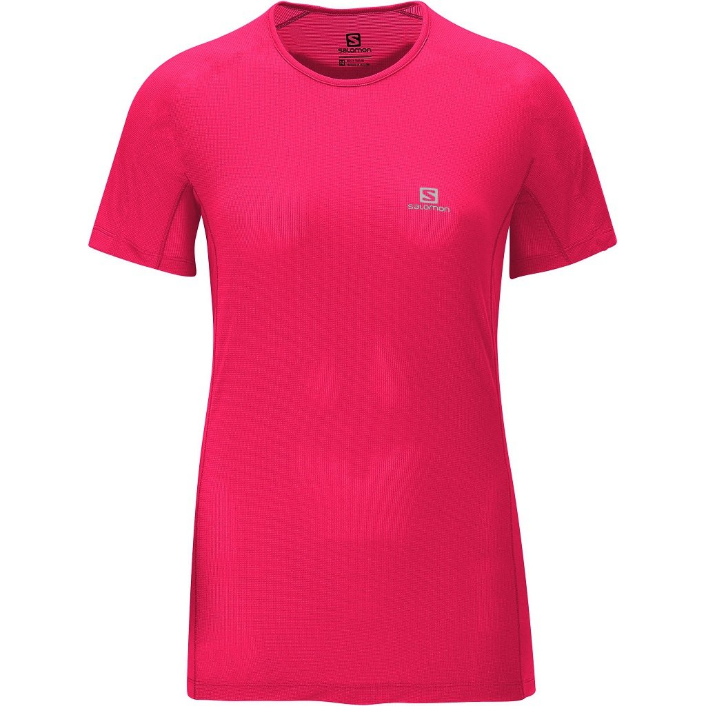 Pink Salomon Hybrid SS Camiseta Rosa Hybrid Camiseta SS Pink xwnYq0Pw