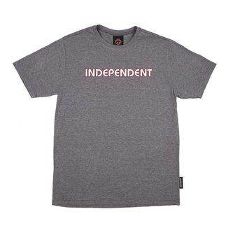 Camiseta Independent Bar Logo Chumbo Mesclado