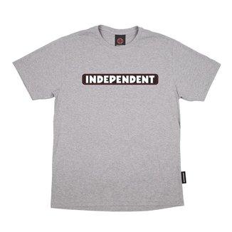 Camiseta Independent Big Bar Logo 3 Colors Cinza Mesclado