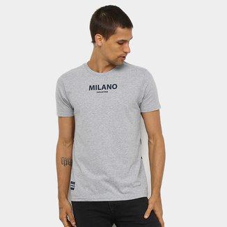 Camiseta Industrie Estampa nas Costas Manga Curta Masculina