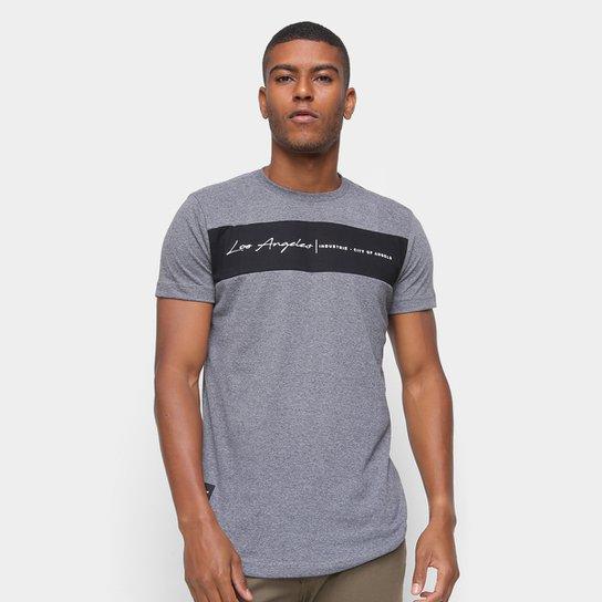Camiseta Industrie Los Angeles Faixa Masculina - Grafite