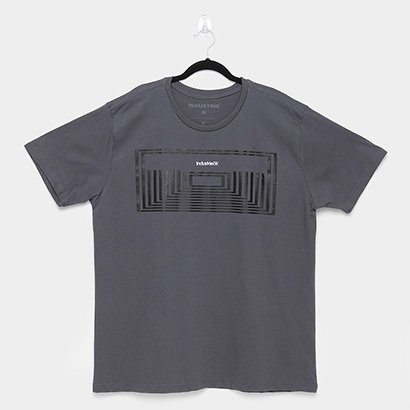 Oferta Camiseta Industrie Plus Size Básica Masculina por R$ 26.99