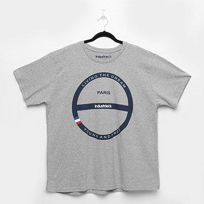 Oferta Camiseta Industrie Plus Size Paris Masculina por R$ 29.99