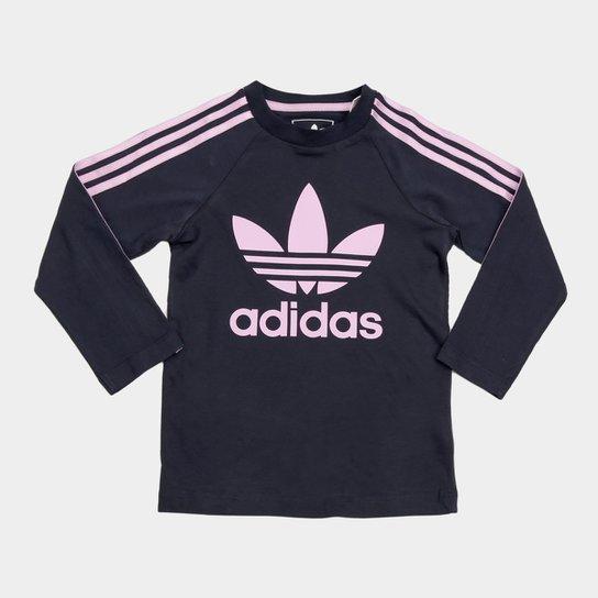 arcilla Universidad Favor  Camiseta Infantil Adidas 3 Stripes Ls Manga Longa Feminina | Netshoes