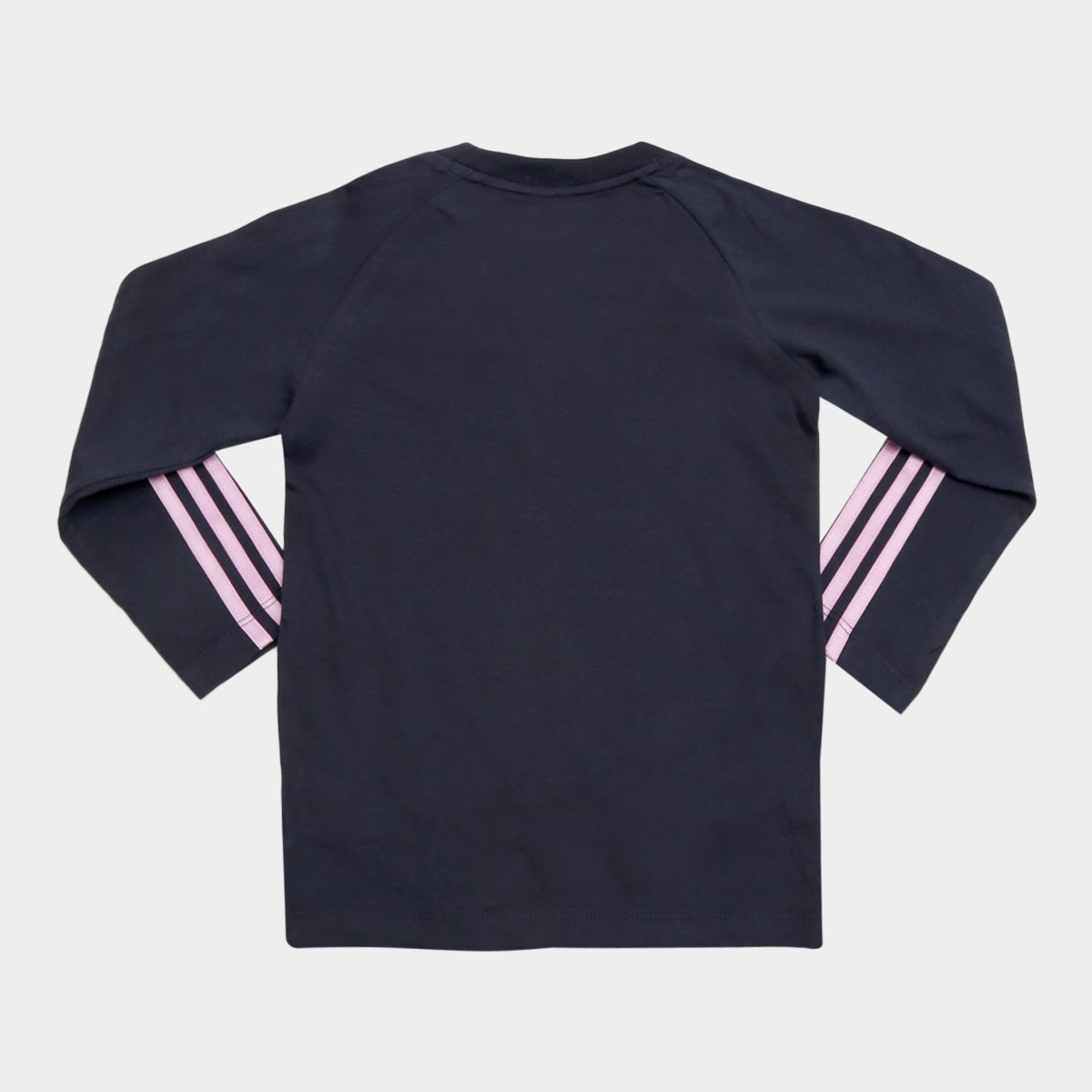 Camiseta Infantil Azul Adidas Ls Feminina Manga 3 Stripes Longa vv8dwq