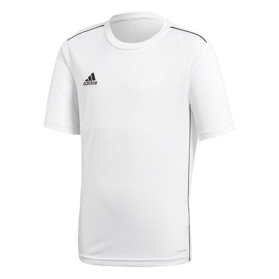 Camiseta Infantil Adidas Core 18 - Branco+Preto