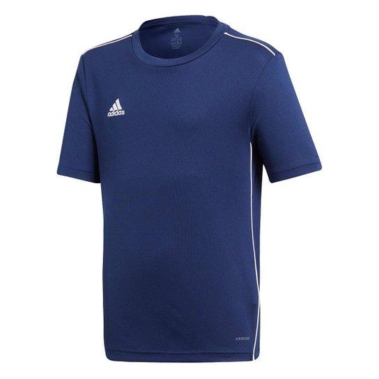 Camiseta Infantil Adidas Core 18 - Marinho+Branco