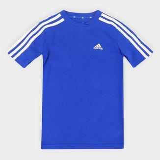 Camiseta Infantil Adidas D2M 3 Stripes Masculina