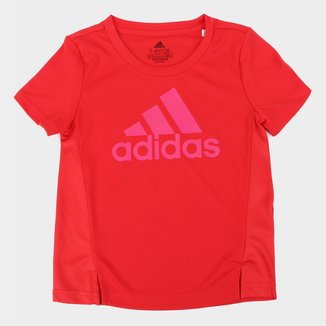 Camiseta Infantil Adidas D2M Big Logo Feminina