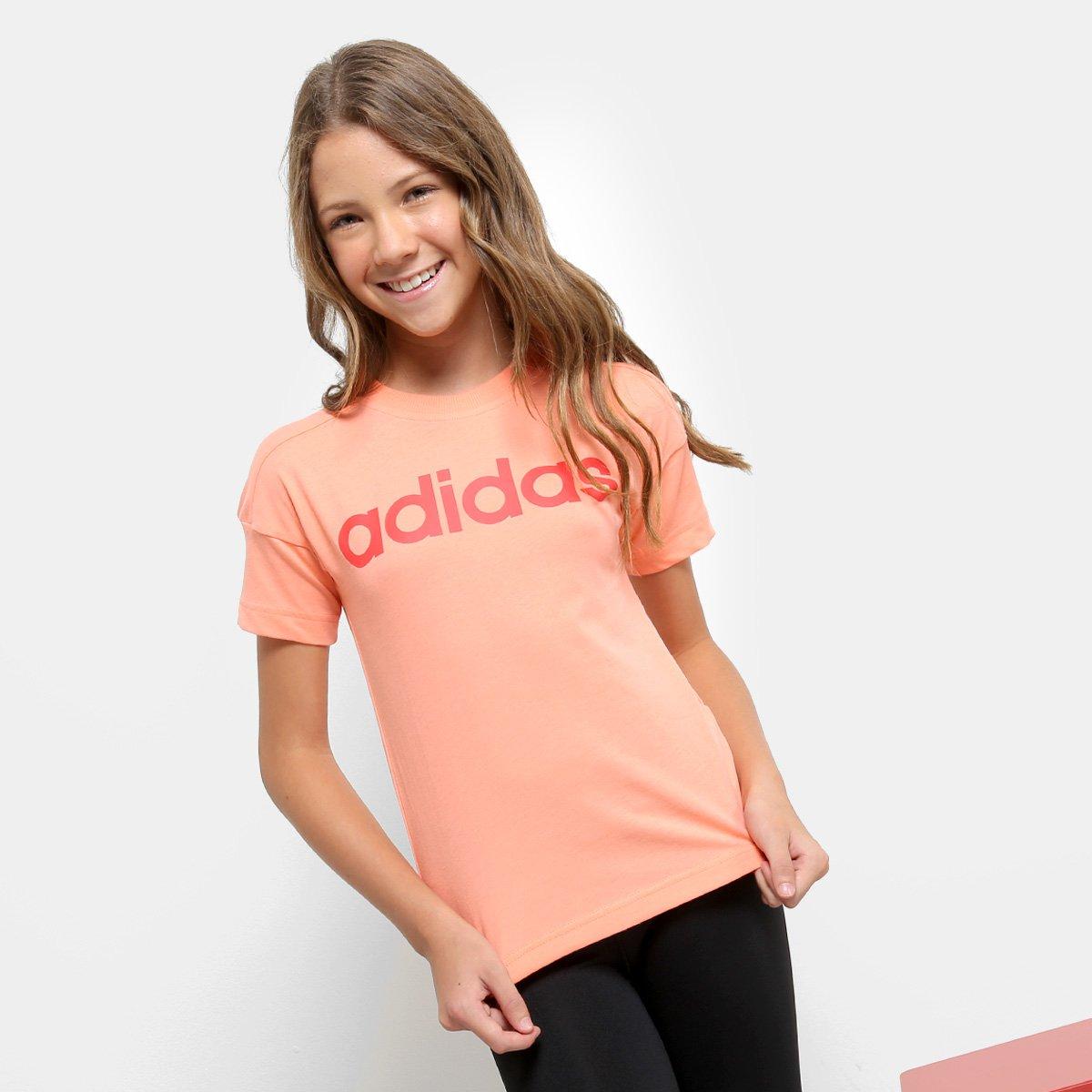 Camiseta Infantil Camiseta Lin Adidas Adidas Salmão Lk Lin Lk Lk Camiseta Infantil Adidas Lin Salmão Infantil Salmão xEAwq1P
