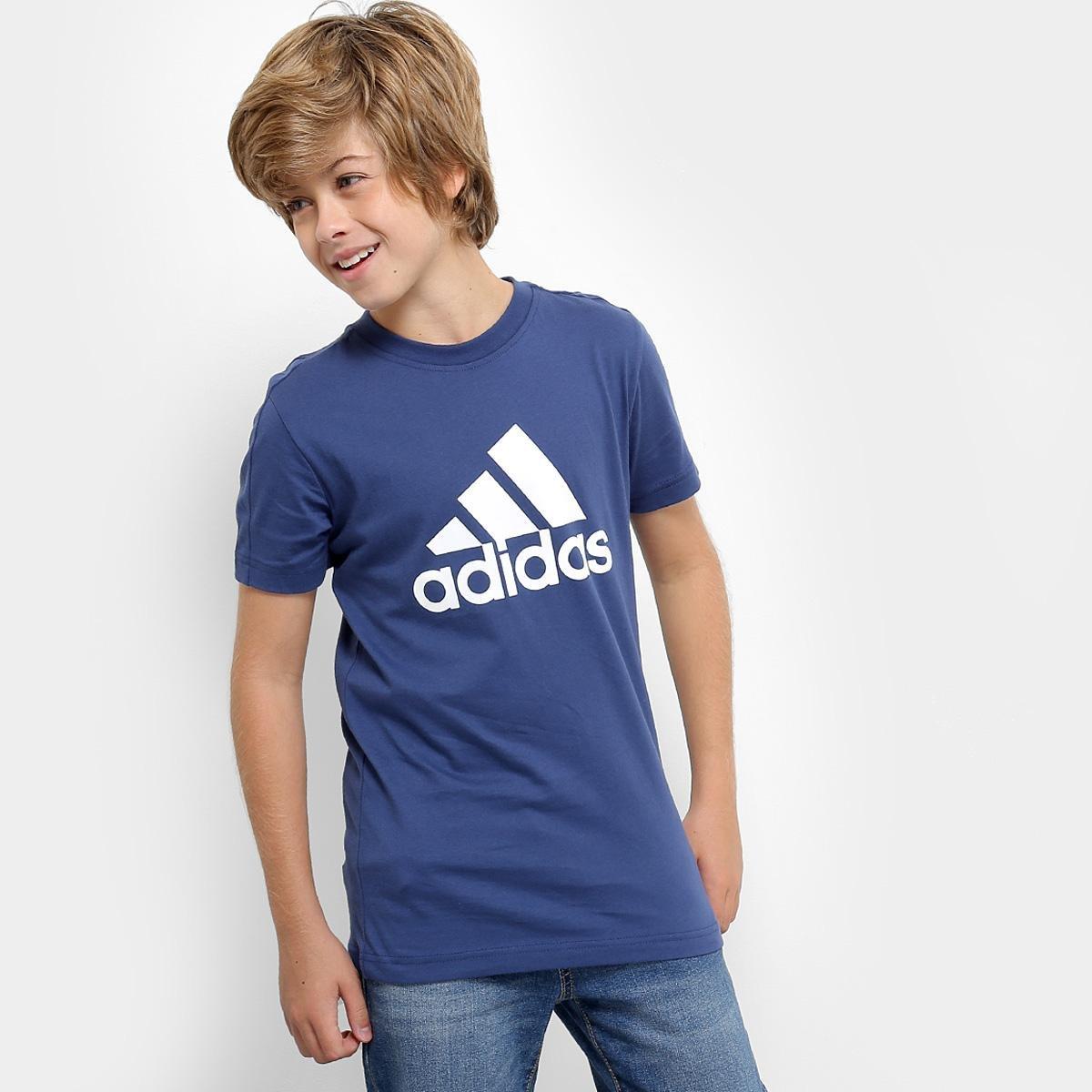 22873a8edf4c9 Camiseta Infantil Adidas Mc Yb Logo Masculina - Compre Agora Netshoes  a947366d0174c5 ...