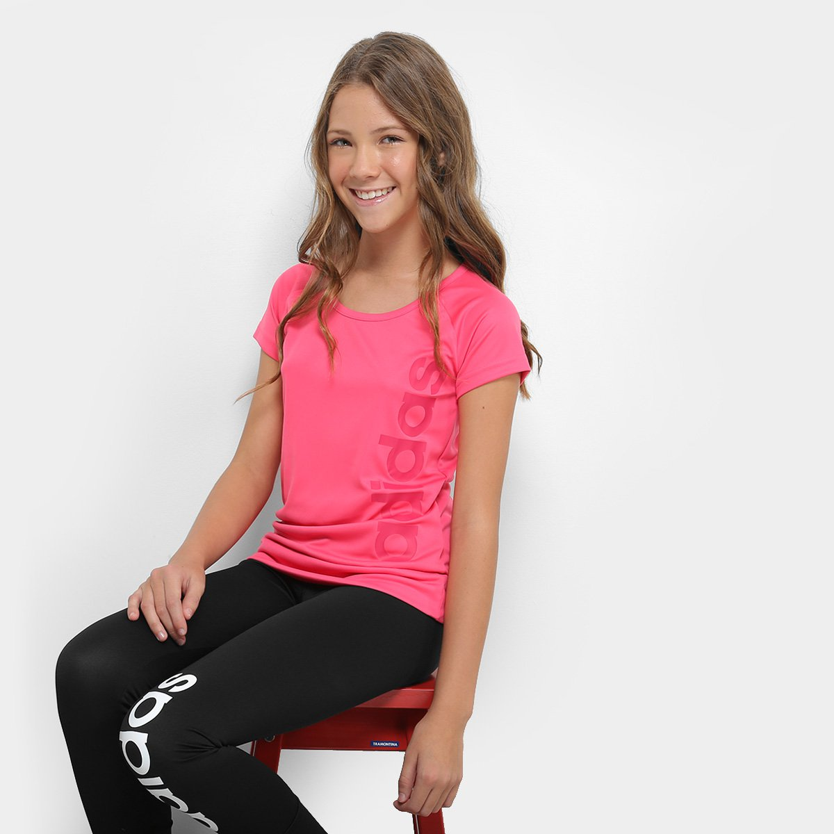Pink Camiseta Infantil Camiseta Mc Adidas Yg Infantil Gu wgwF7qz