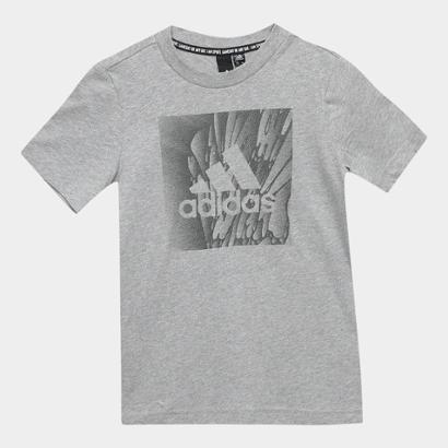Camiseta Infantil Adidas Yb Mh Box Manga Curta Masculina