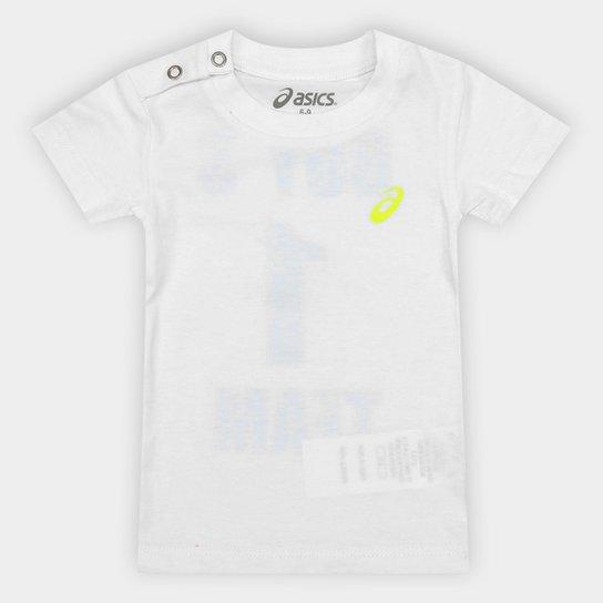 Camiseta Infantil Asics Sugar Tee Masculina - Branco