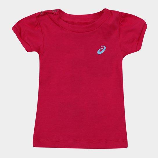 Camiseta Infantil Asics W Sugar Tee Feminina - Pink