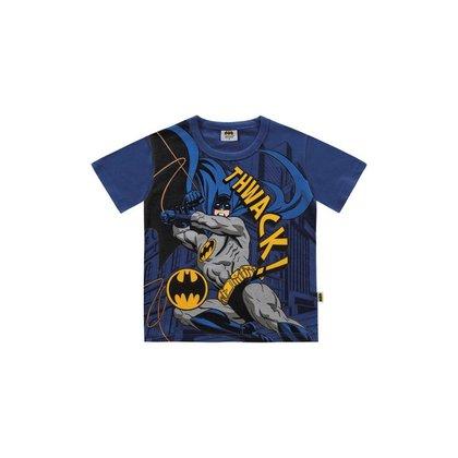 Camiseta Infantil Bebê Manga Curta Batman Fakini - AZUL - 2