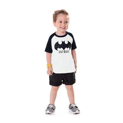 Camiseta Infantil Bebê Masculina Batman - AZUL - 1