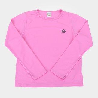 Camiseta Infantil Boca Grande UV50+ Manga Longa Feminina