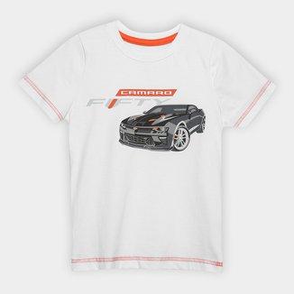 Camiseta Infantil Camaro Graphic Car Fifty