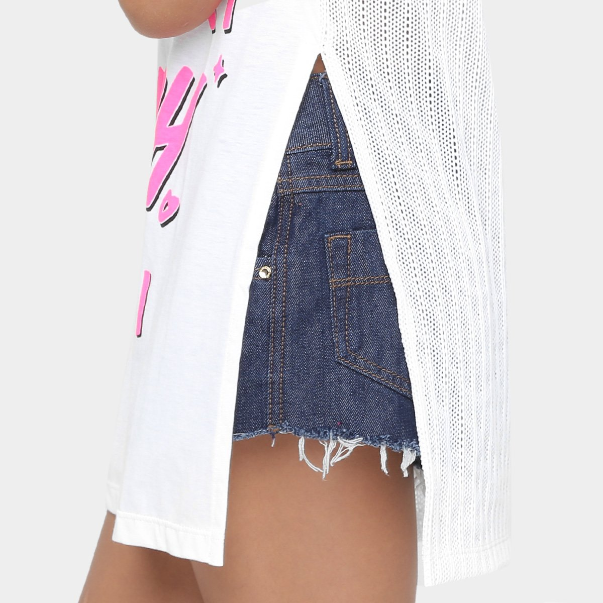 Camiseta Feminina Infantil Camiseta Colcci Infantil Estampada Off White Fun q5vB7Yw