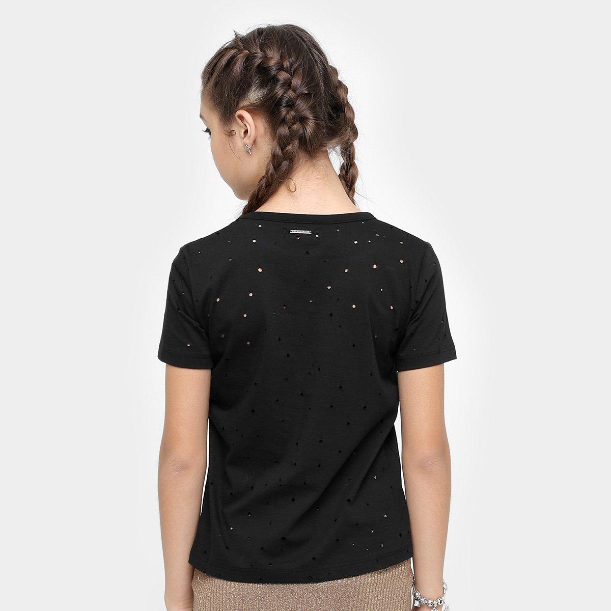 Fun Camiseta Feminina Preto Infantil Estampada Preto Estampada Colcci Infantil Fun Colcci Infantil Camiseta Camiseta Feminina 8ZPSqO